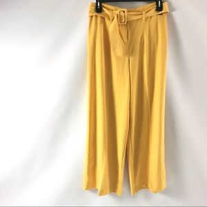 New York & Co Women's Palazzo Pants Size 10 Yellow